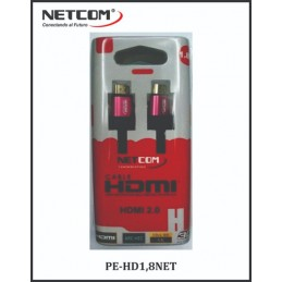 Cable Netcom HDMI 1.8m de 2.0