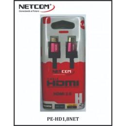 Cable Netcom HDMI 1.8m de 2.0