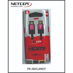 CABLE NETCOM HDMI 5M DE 2.0